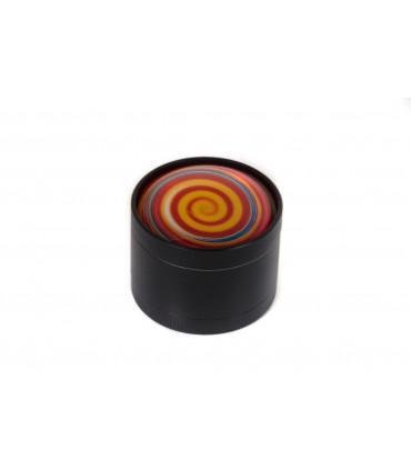 Black Leaf Grinder - Swirling Candy