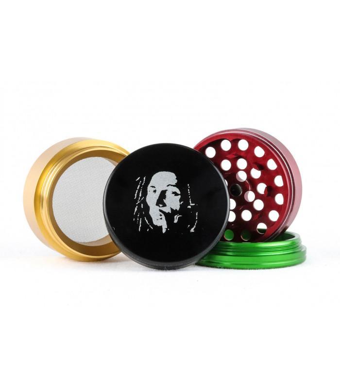 Grinder αλουμινίου Bob Marley Rasta (40/50/56mm)