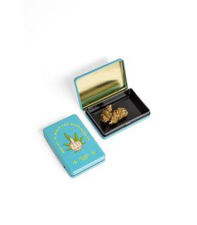 Σπόροι κάνναβης - Μεταλλικό κουτί - Stand Out (Μπλε)