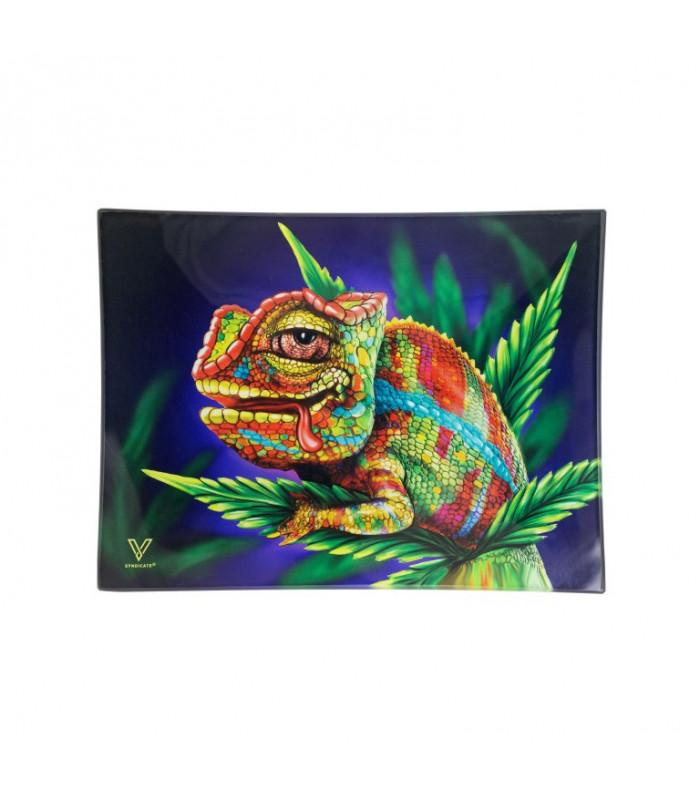 V-SYNDICATE GLASS TRAY SMALL-STONED CHAMELEON