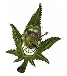 Σπόροι κάνναβης - Cannabuds - Ρολόι τοίχου