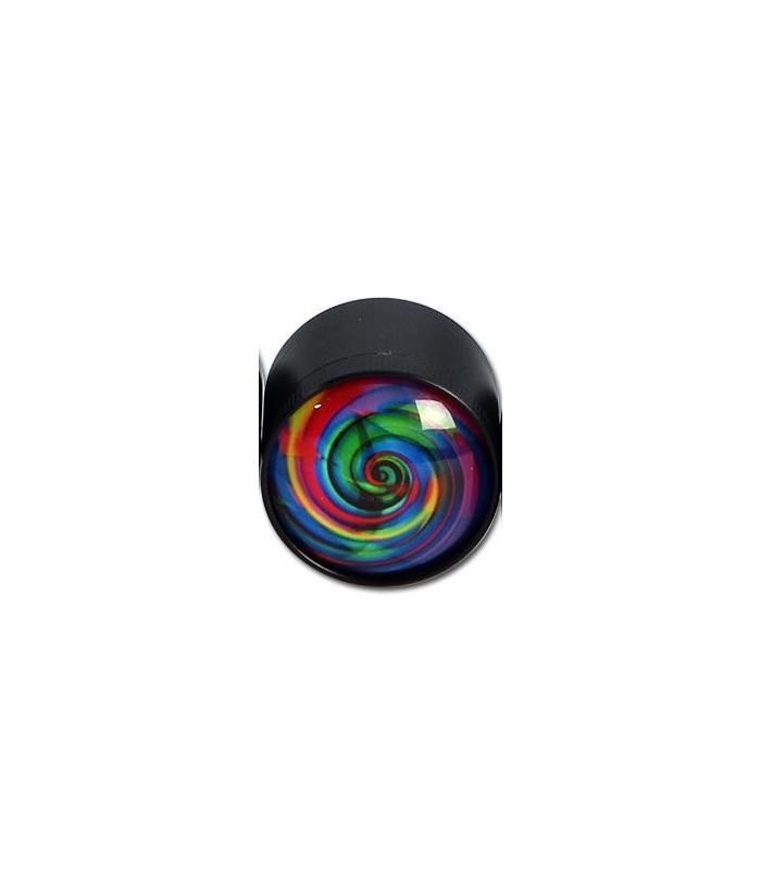 Black Leaf Blue Swirl 3πατο μικρό