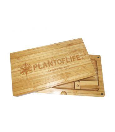 Ξύλινο κουτί-δίσκος στριψίματος με μαγνητικό κλείσιμο Plant of Life