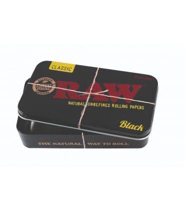 Raw Metal Tin Case Black