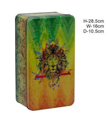 Σετ Δώρου Amsterdam 420 Rasta Bong Σε Κουτί από κασσίτερο με σχέδιο λιοντάρι