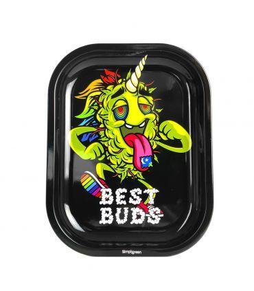 """Best Buds μεσαίο δισκάκι στριψίματος """"LSD"""" (14×18εκ) + Μαγνητική κάρτα Grinder"""